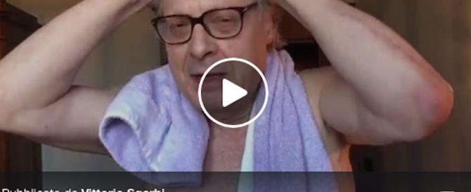 Sgarbi dal bagno: «Di Maio, chi ti vota? Verrai travolto da una pioggia di m…» (video)