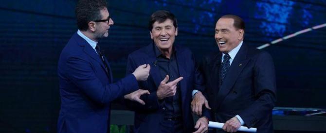 """Berlusconi gela Fazio: """"Fascismo? Oggi il pericolo viene dai centri sociali"""""""