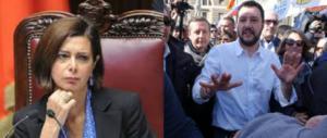 La Boldrini: «Salvini non sa dirsi antifascista». E lui: «Non sai parlare d'altro»