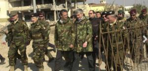 Casini non ha rinunciato alla mimetica nella sua visita ad Herat