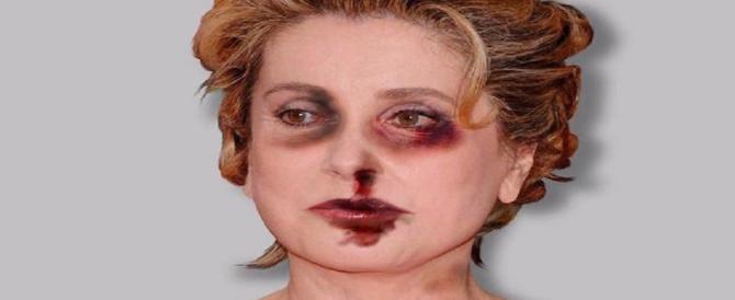 """La Deneuve sfigurata dalle botte. Foto """"punitiva"""" per l'attrice che ha criticato #metoo"""