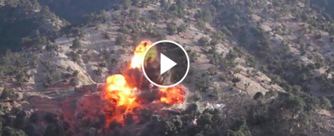 Covo Isis polverizzato in Afghanistan: in Rete il blitz delle forze Nato (video)
