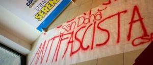 Gli antifascisti contro una sede di FdI: l'intimidazione firmata dai centri sociali
