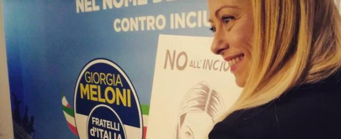 """""""Noi non tradiamo"""". L'intervento di Giorgia Meloni all'Adriano (video)"""