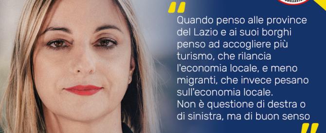 «Più turisti, meno migranti»: Lombardi vuole i voti di destra, ma rimedia solo insulti