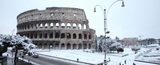 Roma imbiancata: spettacolo insolito, non raro. Nel 352 persino d'agosto
