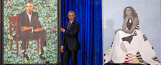 Esposti allo Smithsonian i ritratti ufficiali di Obama e Michelle