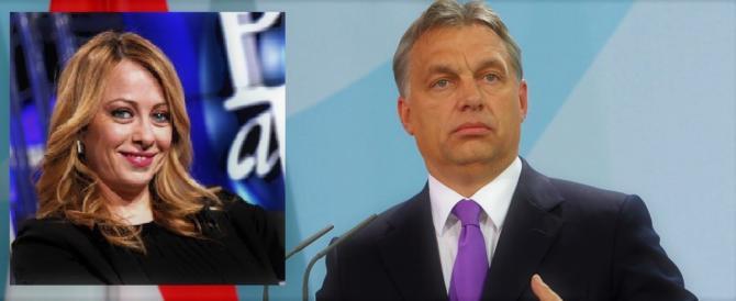 """Giorgia Meloni va a Budapest da Orban: """"Lui difende i confini europei"""""""
