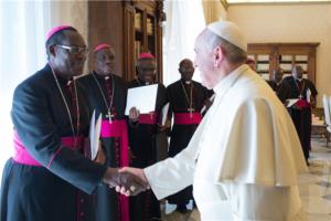 Papa Francesco riceve alcuni cardinali africani