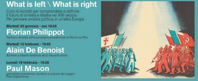 A Milano arriva de Benoist. Lettera degli accademici antifascisti: non deve parlare