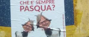 Non solo Boldrini: affissi manifesti di Sgarbi con la testa mozzata