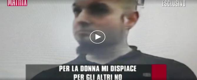 """L'interrogatorio di Luca Traini: """"Per la donna mi dispiace, per gli altri no"""" (video)"""