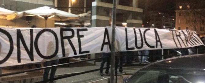 """Onore a Luca Traini. A Ponte Milvio spunta uno striscione """"solidale"""""""