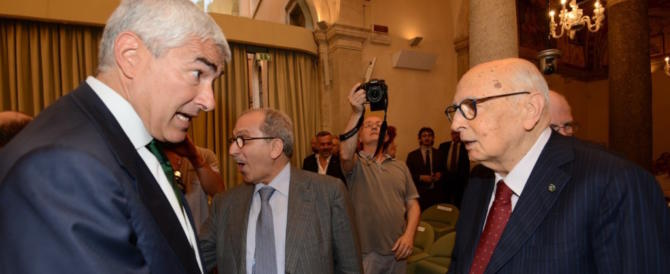 Casini e Napolitano uniti nella lotta: saranno nello stesso gruppo in Senato