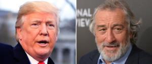 Ennesimo insulto a Trump: «Idiota». Robert De Niro è proprio fuori di testa
