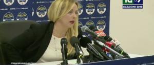 Molise, Meloni: «Ormai è chiaro, gli elettori vogliono un premier di centrodestra»