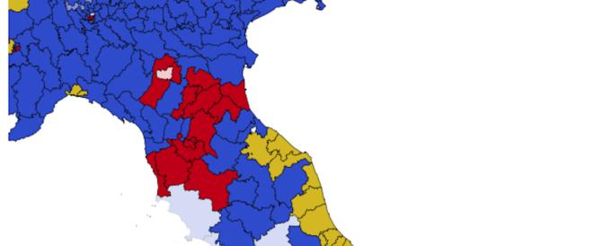 """La Toscana vira a destra, """"regge"""" solo Firenze: le zone rosse diventano blu"""