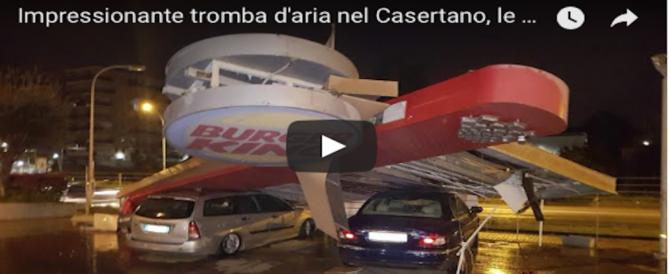 Apocalisse nel Casertano, una violenta tromba d'aria si abbatte su 3 paesi: le immagini (VIDEO)
