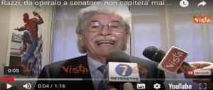 """Razzi 2.0, il ritorno: in un libro le tappe del successo di """"Un senatore possibile"""" (VIDEO)"""