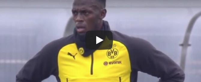 Usain Bolt debutta come calciatore nel Borussia: ed è subito spettacolo (video)