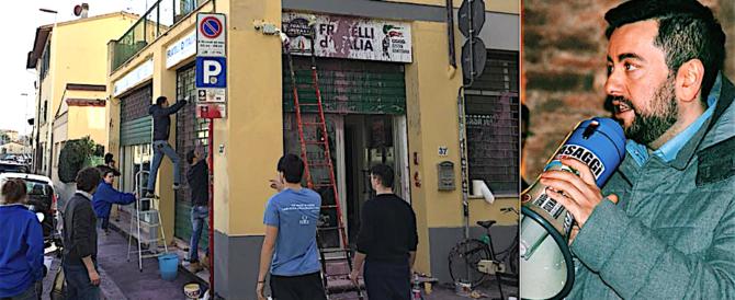 Firenze, attentato antifascista a Fratelli d'Italia. Torselli: atto infame
