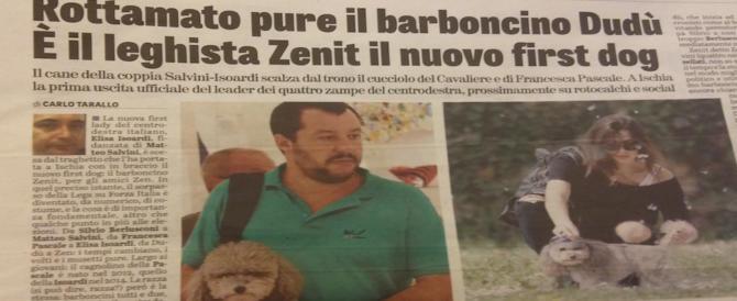Il centrodestra ha un nuovo first-dog: non è più Dudù, ma Zenit. Il cucciolo di Salvini