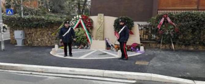 Sfregio alla memoria, imbrattata la lapide di via Fani: la sigla Br sui nomi delle vittime