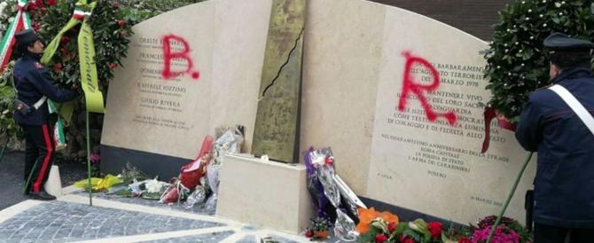 """Lapide di Moro imbrattata, Rampelli: """"Lasciate in pace i morti"""""""