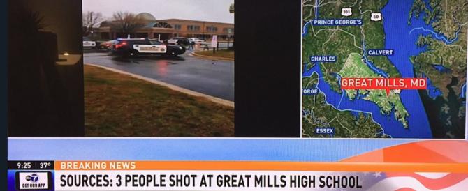 Sparatoria in un liceo del Maryland: colpiti tre studenti (video)