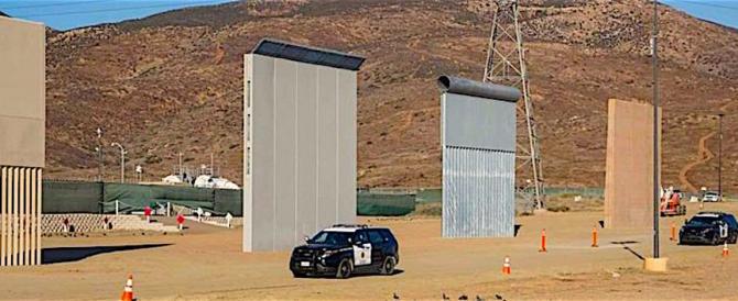 Trump ispeziona i prototipi del Muro che sarà costruito col Messico