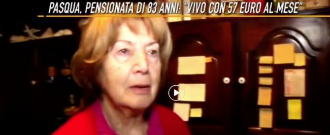 """""""Vivo con 2 euro al giorno"""". Il dramma di una pensionata romana (video)"""