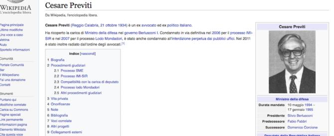 Previti contro Wikipedia: la Corte d'Appello dà ragione all'enciclopedia online