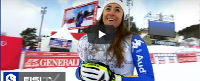 """""""Sììììì!"""". L'urlo di Sofia Goggia (video): ha vinto la Coppa del mondo"""