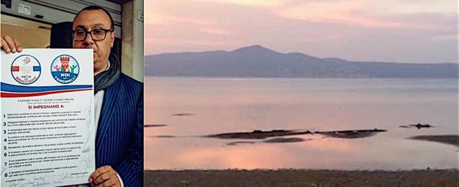 Il sindaco di Bracciano denuncia: il lago non risale, ecosistema compromesso
