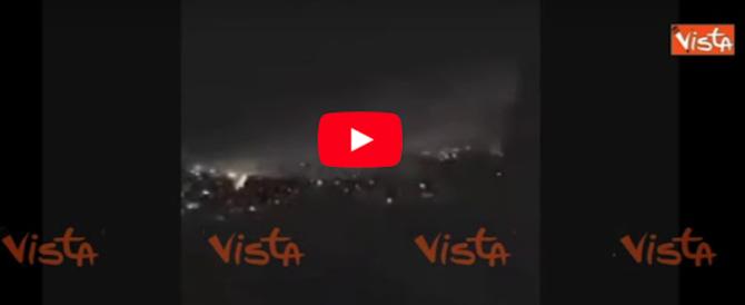 Attacco in Siria: a Damasco la contraerea risponde al raid (video)