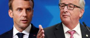 Juncker bacchetta Macron: «L'Europa non è solo Francia e Germania»