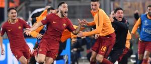 Roma leggendaria: elimina il Barcellona (3-0) e vola in semifinale Champions