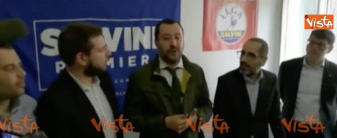 Salvini: pronti a governare da soli, nessuno ci mette i piedi in testa (video)