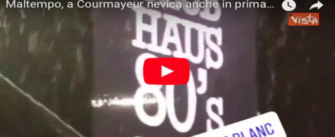 È primavera e nevica a Courmayeur: i social immortalano il momento e lo stupore (VIDEO)