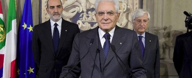Consultazioni, Mattarella categorico: «Non ci sono i numeri per fare un governo»