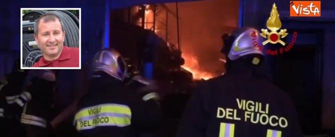 San Donato Milanese, vigile del fuoco eroe muore domando un incendio (video)
