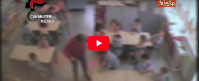 «Sei stupido» e giù botte: nei filmati la violenza della maestra di Monza (video)