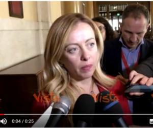 """Meloni, auguri alla Casellati: """"Faremo la nostra parte, però…"""" (video)"""