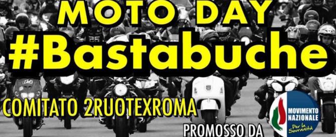 """Un """"Moto Day"""" contro le buche: il Mns mobilita i centauri per il Natale di Roma"""