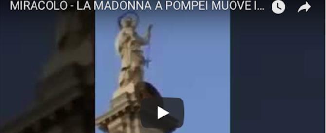 A Pompei si grida al miracolo, il Rosario della Madonna oscilla (video)