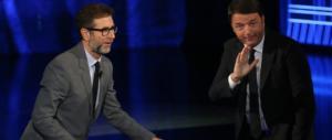"""Renzi torna a farsi coccolare da Fazio: """"Nessuno tradirà, Pd mai col M5S"""""""