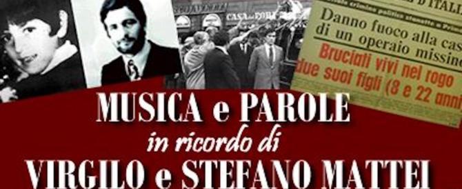 Rogo di Primavalle, le iniziative per ricordare Virgilio e Stefano Mattei