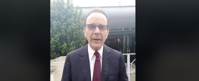 Lazio, Parisi nuovo portavoce del centrodestra. «A Zingaretti dico che…» (video)