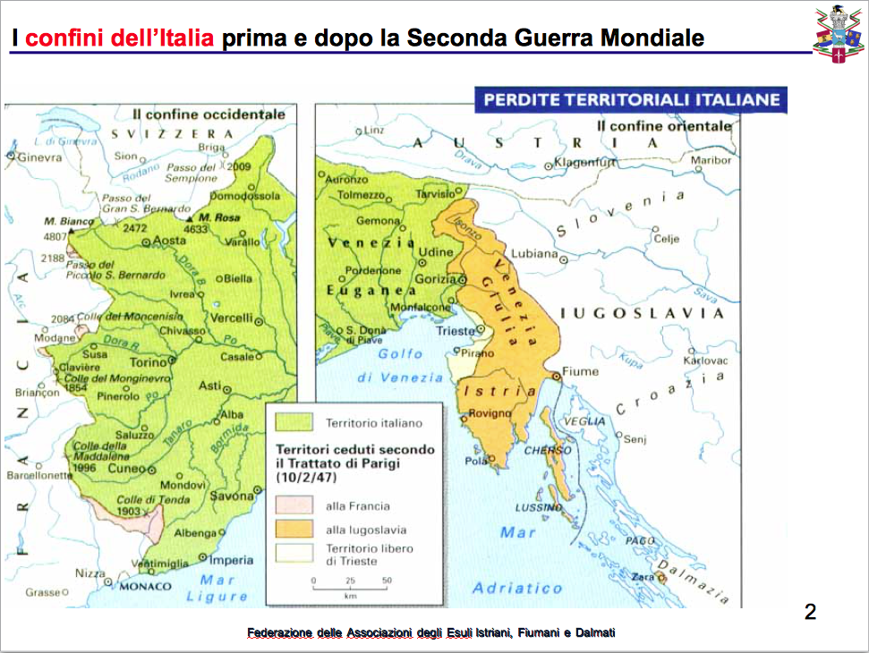 La mappa delle perdite territoriali italiane
