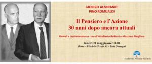 Diretta Live – Convegno su Almirante e Romualdi alla Fondazione di An